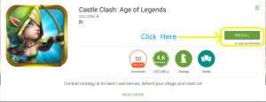 castle clash for install 1