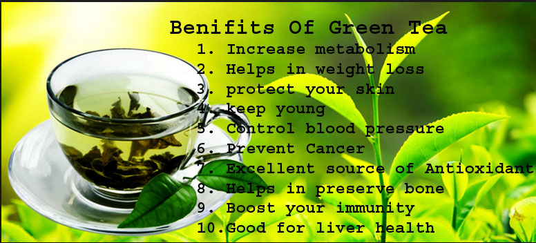 wonderful health benefits of green tea
