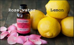 rosewate,lemon